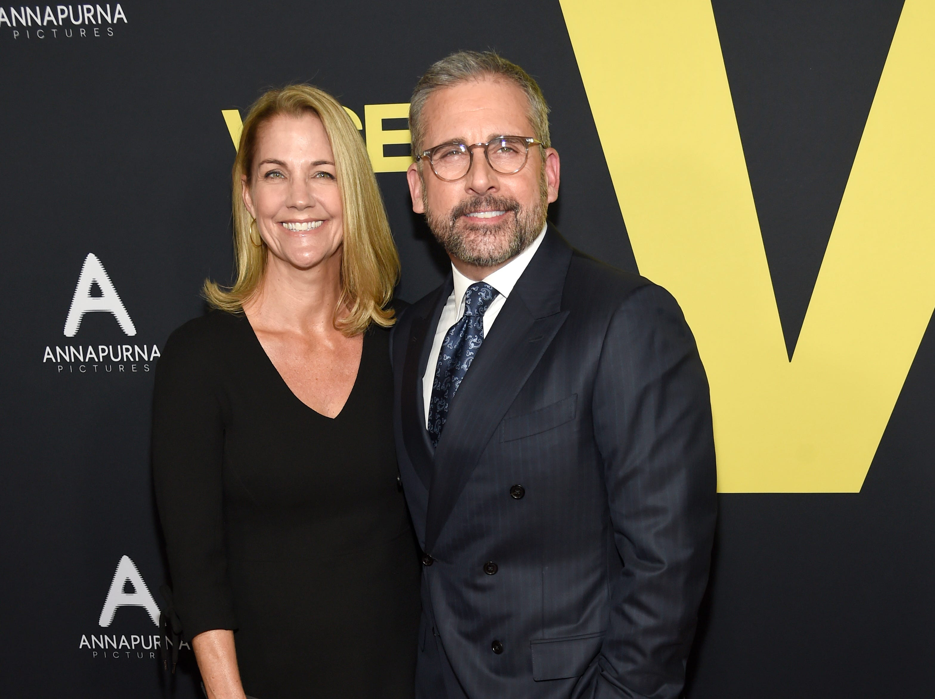 """December 11: Nancy Carell and Steve Carell arrive at the world premiere of """"Vice."""""""