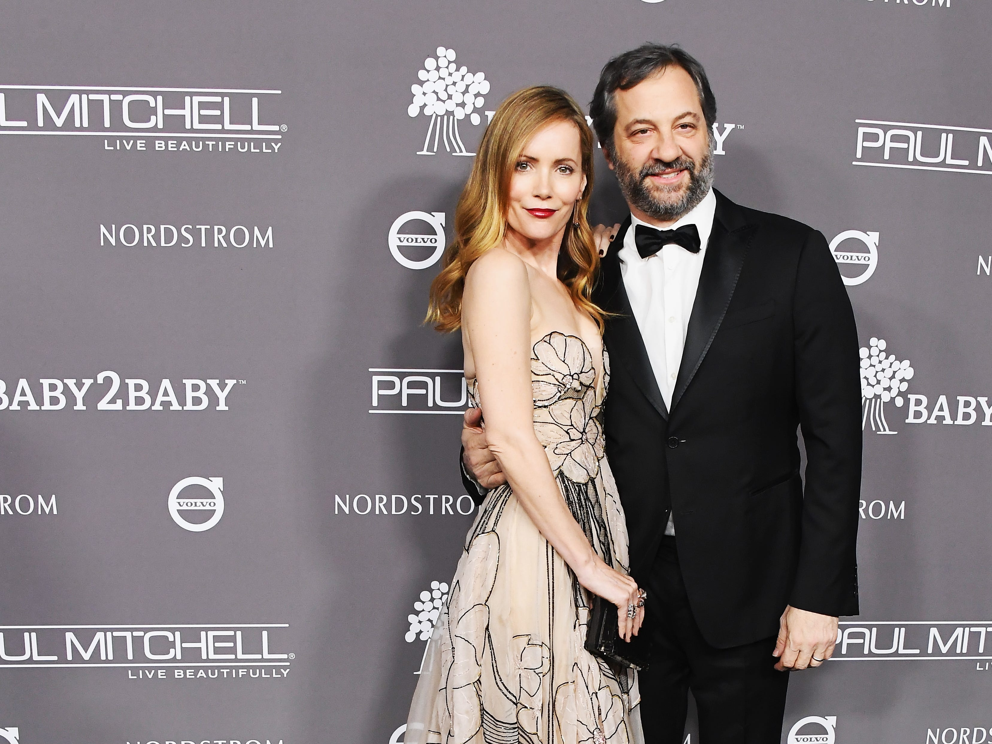 November 10: Leslie Mann and husband Judd Apatow attend the Baby2Baby Gala in Culver City, California.