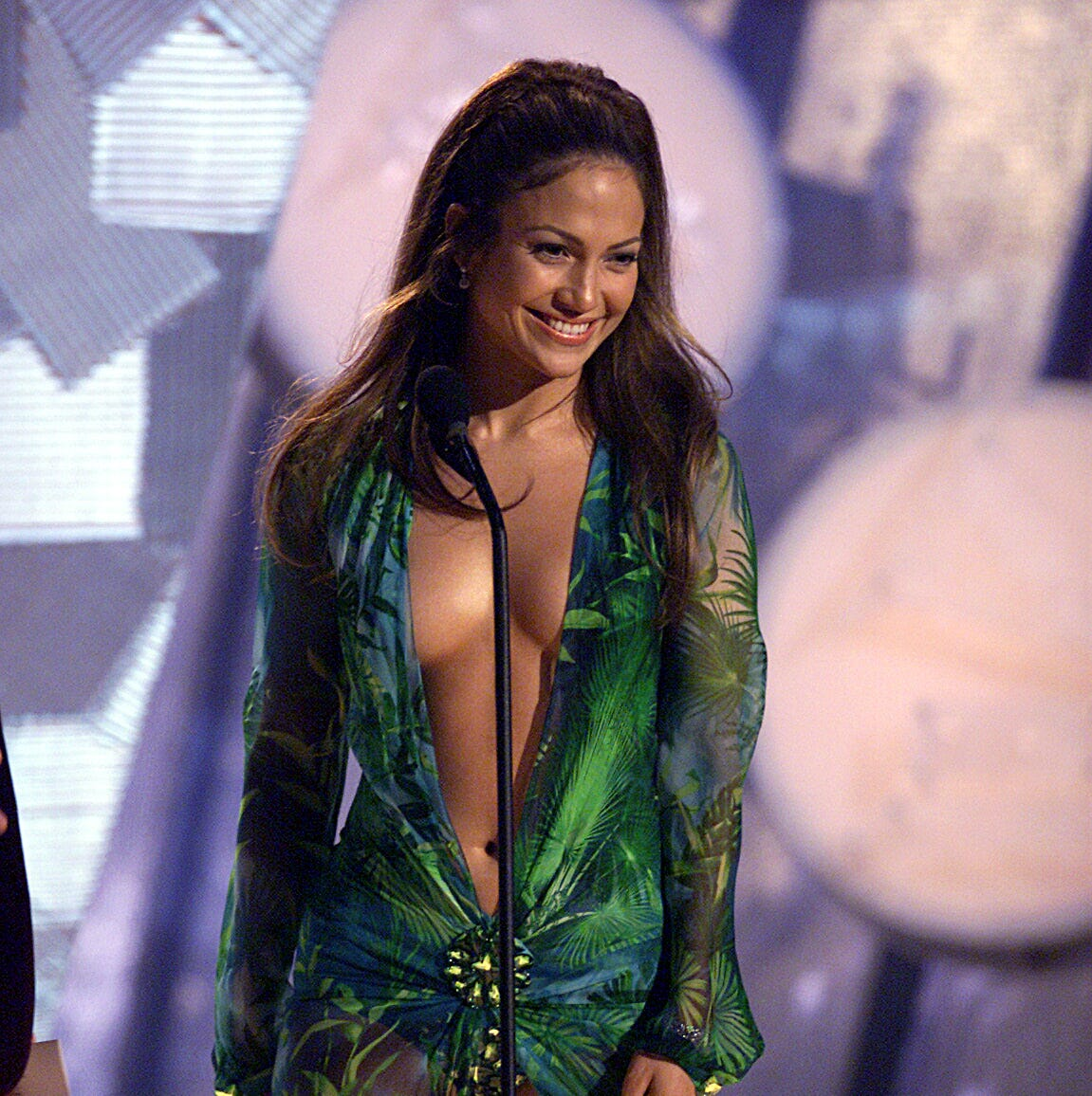 Jennifer Lopez wore that Versace dress while presenting an award at the Grammy Awards in 2000.