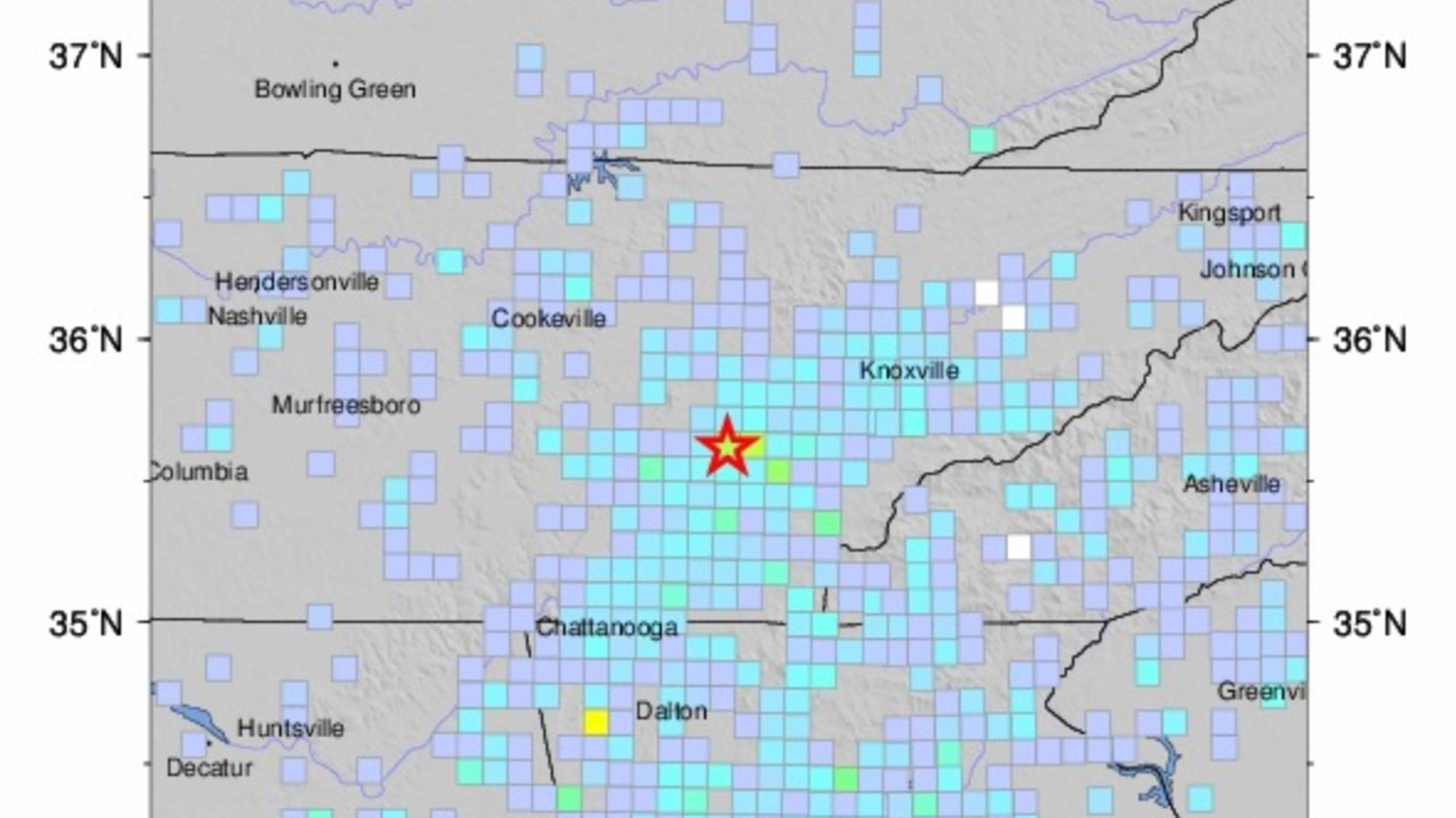 Show Me A Map Of The State Of Georgia.Earthquake With Magnitude 4 4 Hits Tennessee Georgia