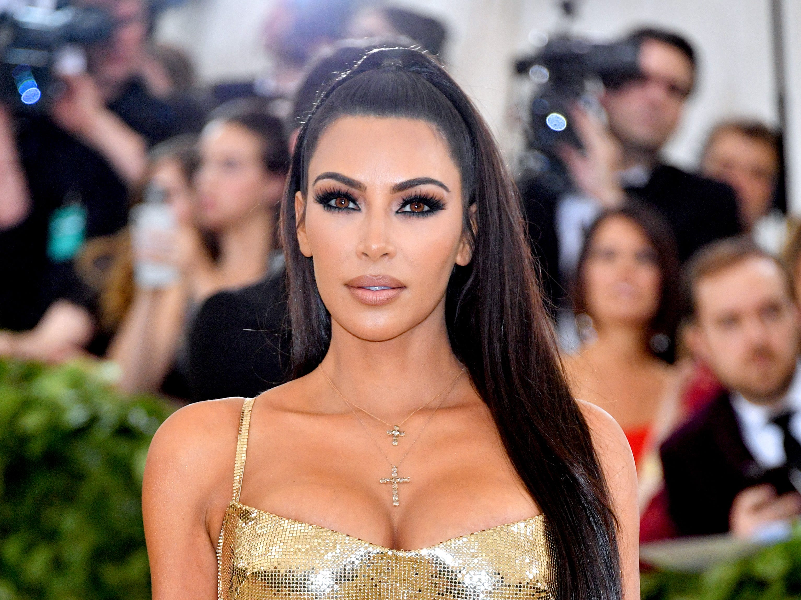 May 7:  Kim Kardashian attends the Heavenly Bodies: Fashion & The Catholic Imagination Costume Institute Gala at The Metropolitan Museum of Art...