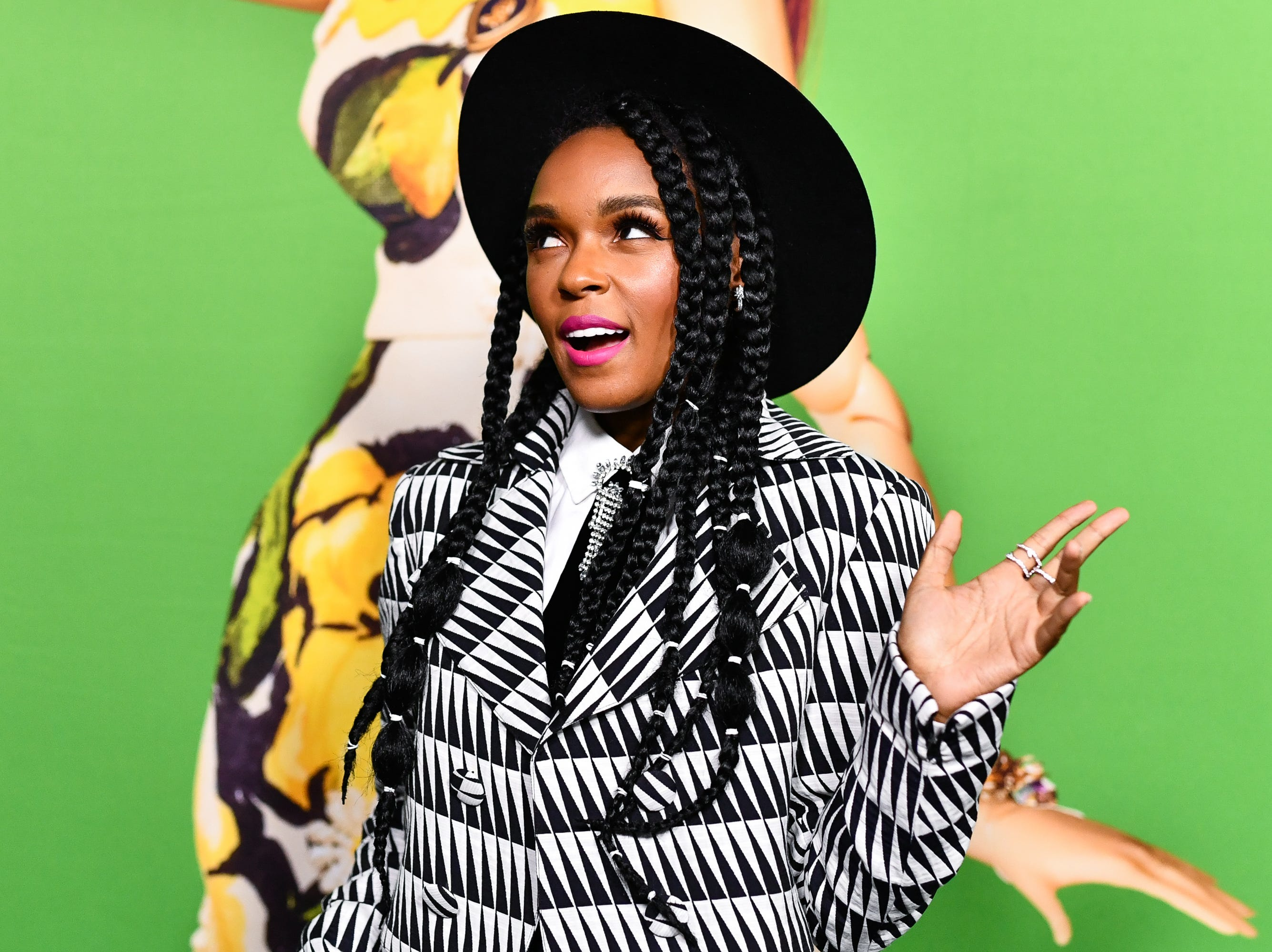 """December 10: Janelle Monae strikes a pose at the Hollywood premiere of """"Welcome To Marwen."""""""