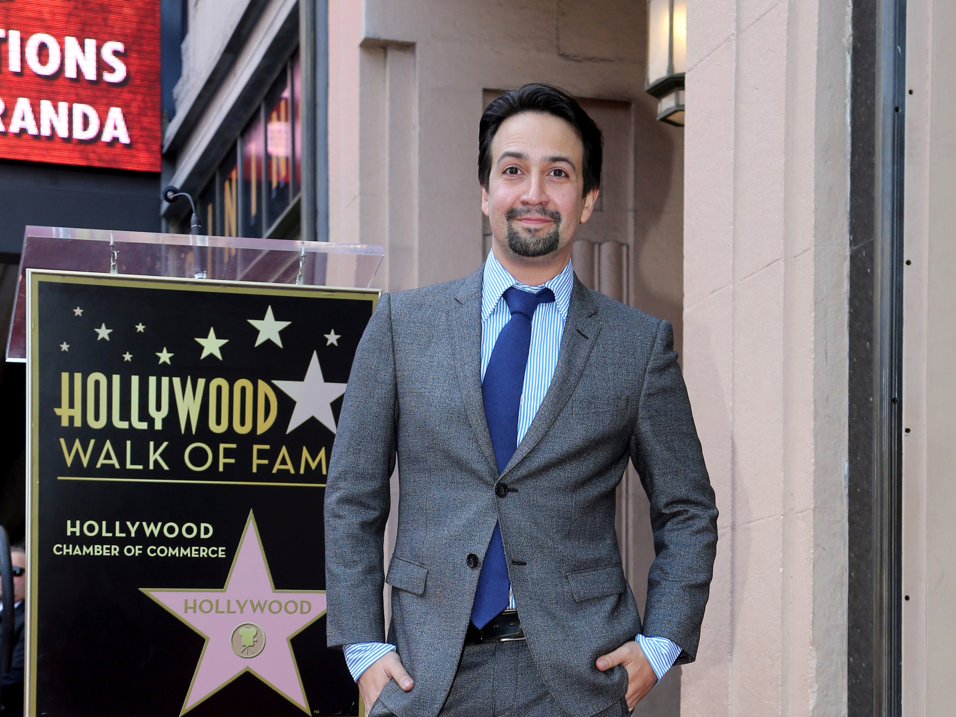November 30: The next day, Lin-Manuel Miranda is honored with a star on the Hollywood Walk of Fame.