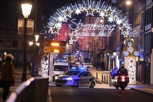 Strasbourg France Terror Attack Gunman Shooting Police