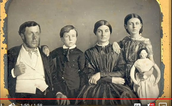 Jimmy Kimmel said in jest we should return to the way our great-grandparents  took photos for holiday cards.