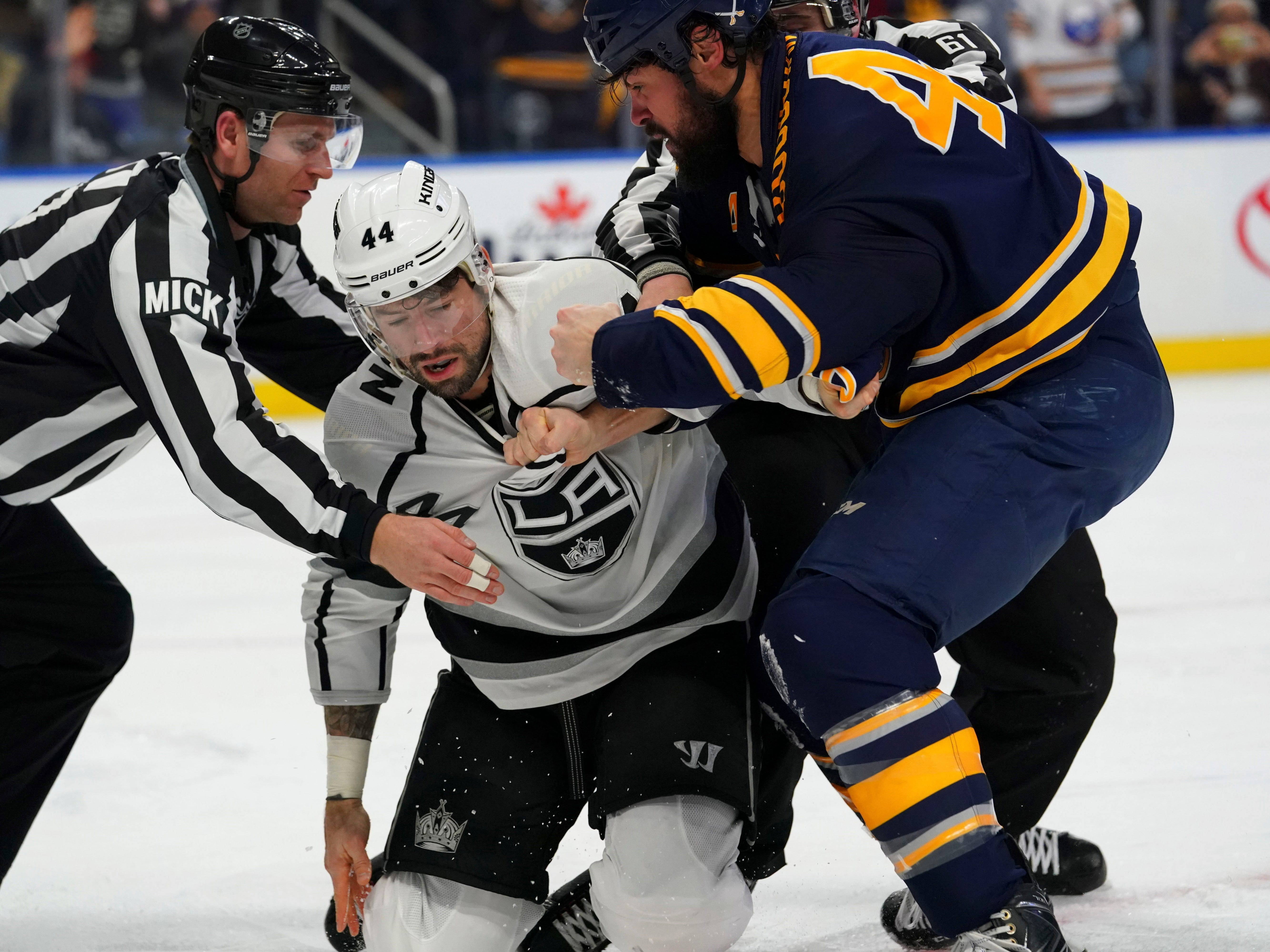 Dec. 11: Los Angeles Kings' Nate Thompson  vs. Buffalo Sabres' Zach Bogosian