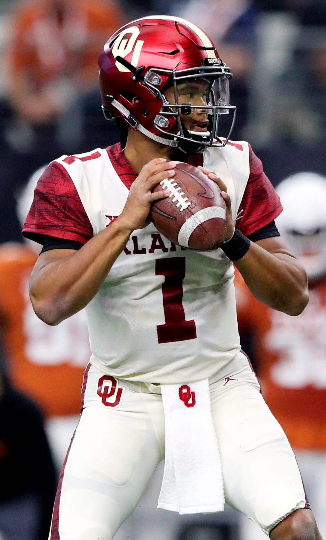 Kyler Murray in action against the Texas Longhorns in the Big 12 Championship.