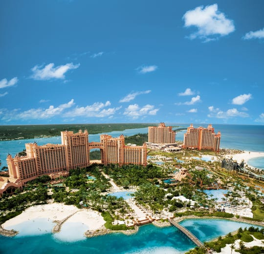 The poker tournament is taking place at the Atlantis resort in the Bahamas.