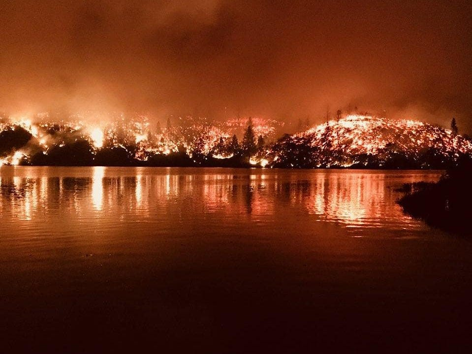 The Whiskeytown National Recreation Area near Redding, California, suffered severe burns in the Carr Fire.