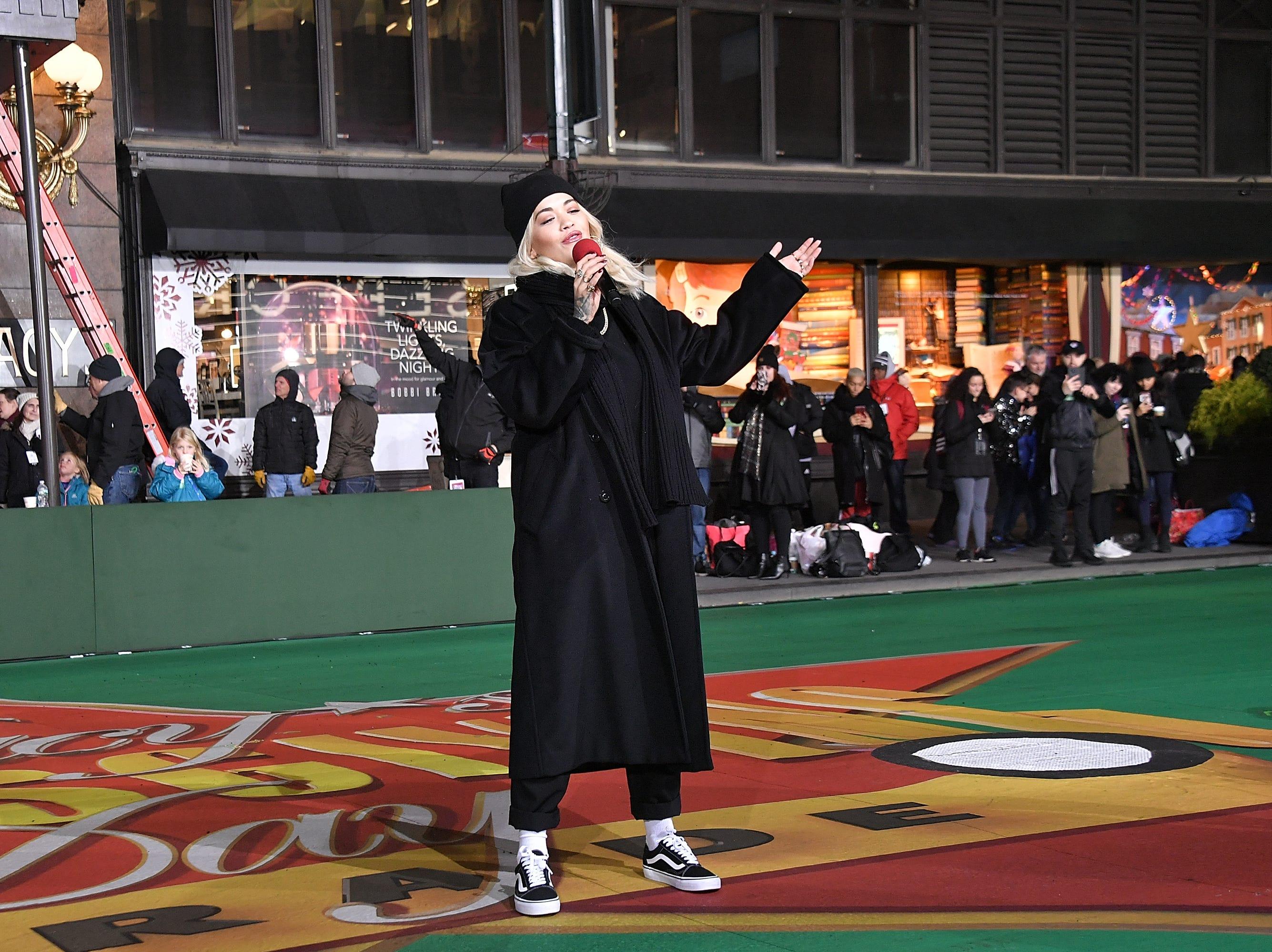 November 20: Rita Ora rehearses for the Macy's Thanksgiving Day Parade.