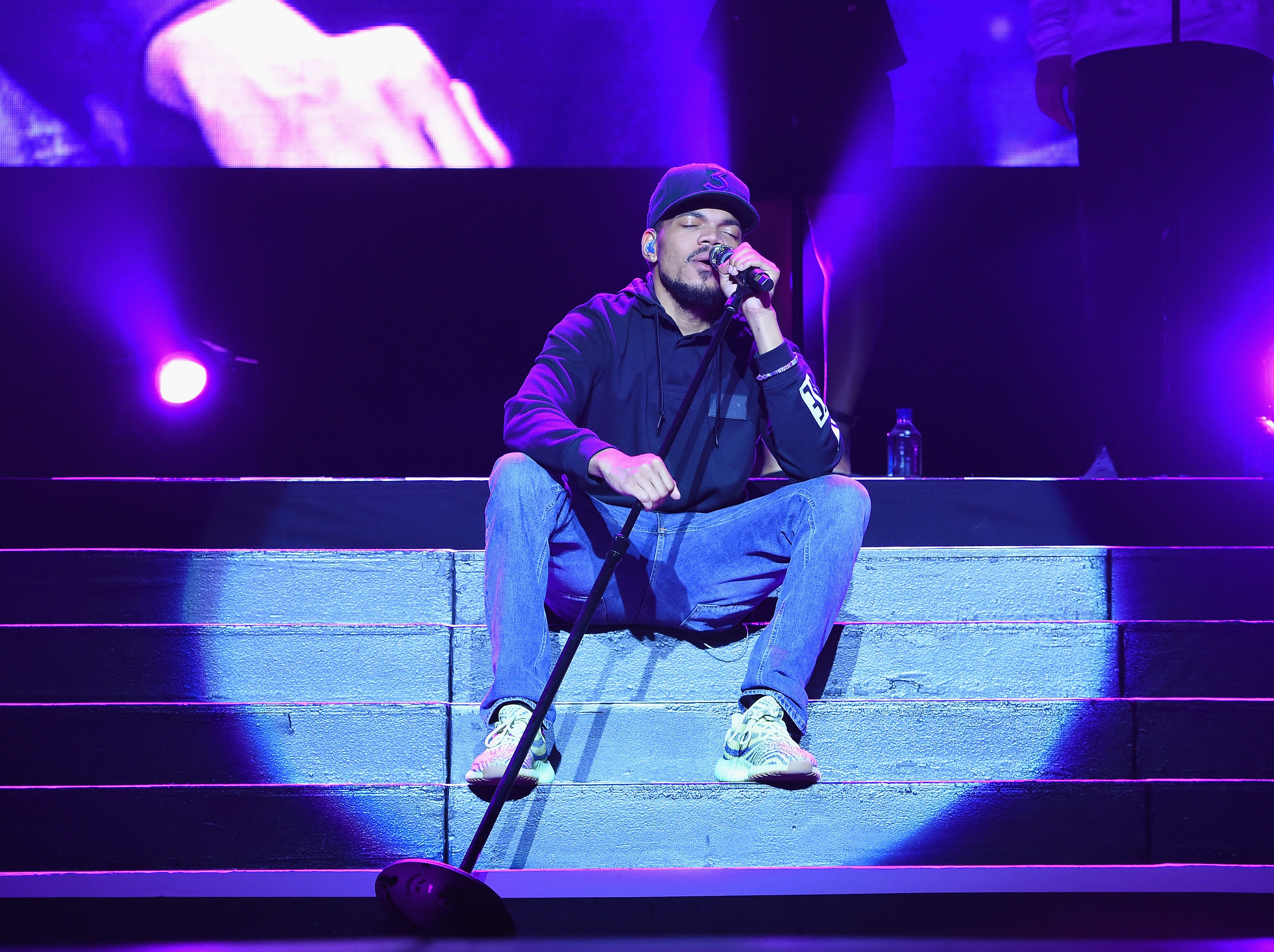 September 29: Chance The Rapper performs at the Coney Island Boardwalk in Brooklyn, New York.