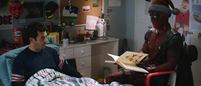 """Fred Savage and Deadpool (Ryan Reynolds) in """"Once Upon a Deadpool."""""""