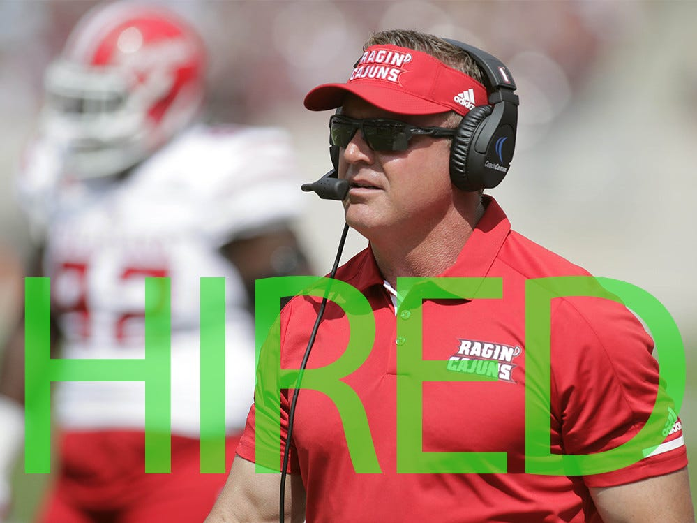 Mark Hudspeth was hired by Austin Peay. He spent the 2018 season on Mississippi State's staff and was head coach at Louisiana-Lafayette from 2011-2017, where he went 51-38 (though 22 of the wins were vacated by the NCAA).