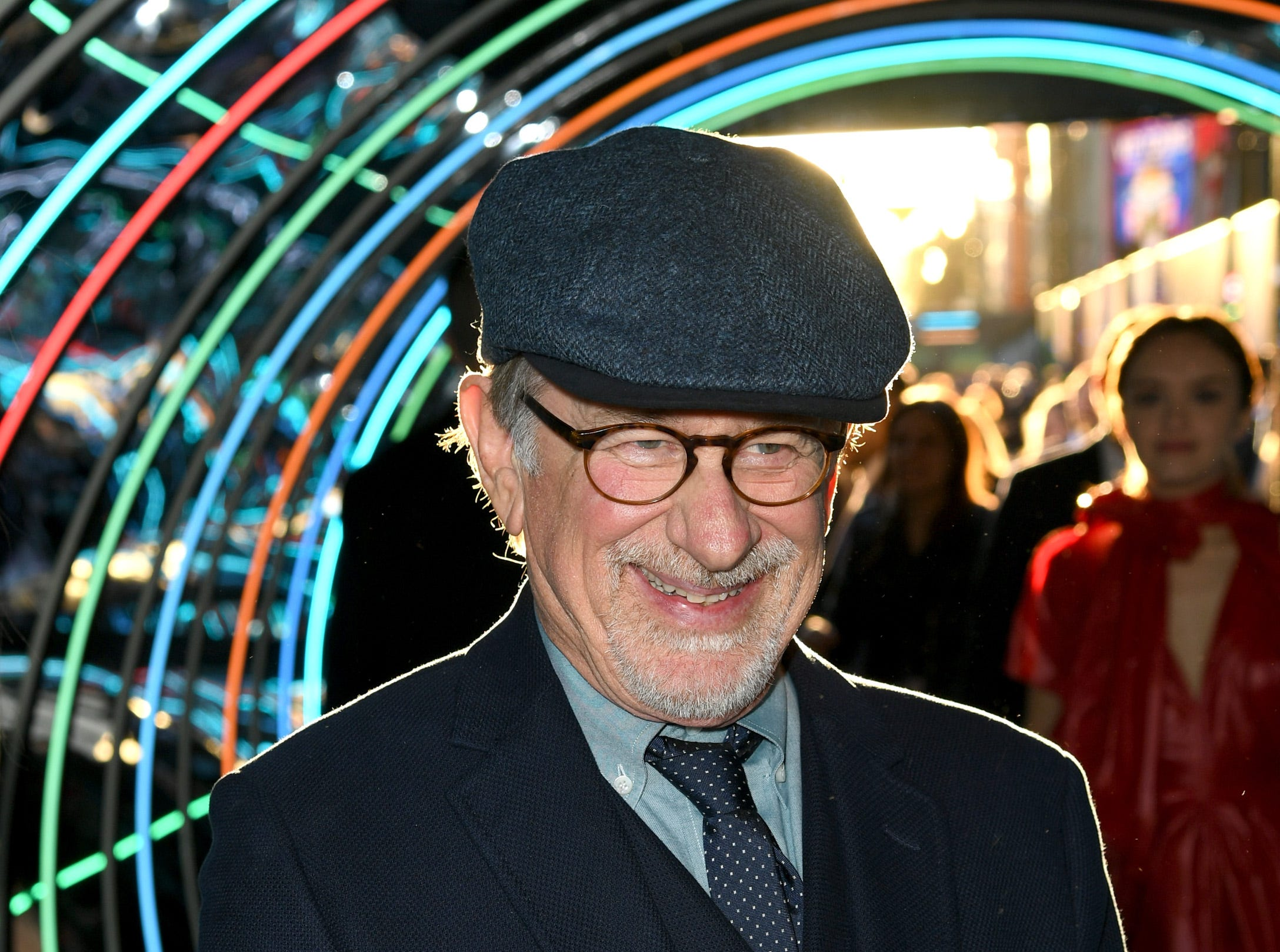 "March 26: Director Steven Spielberg smiles at the premiere of ""Ready Player One' in Los Angeles, California."
