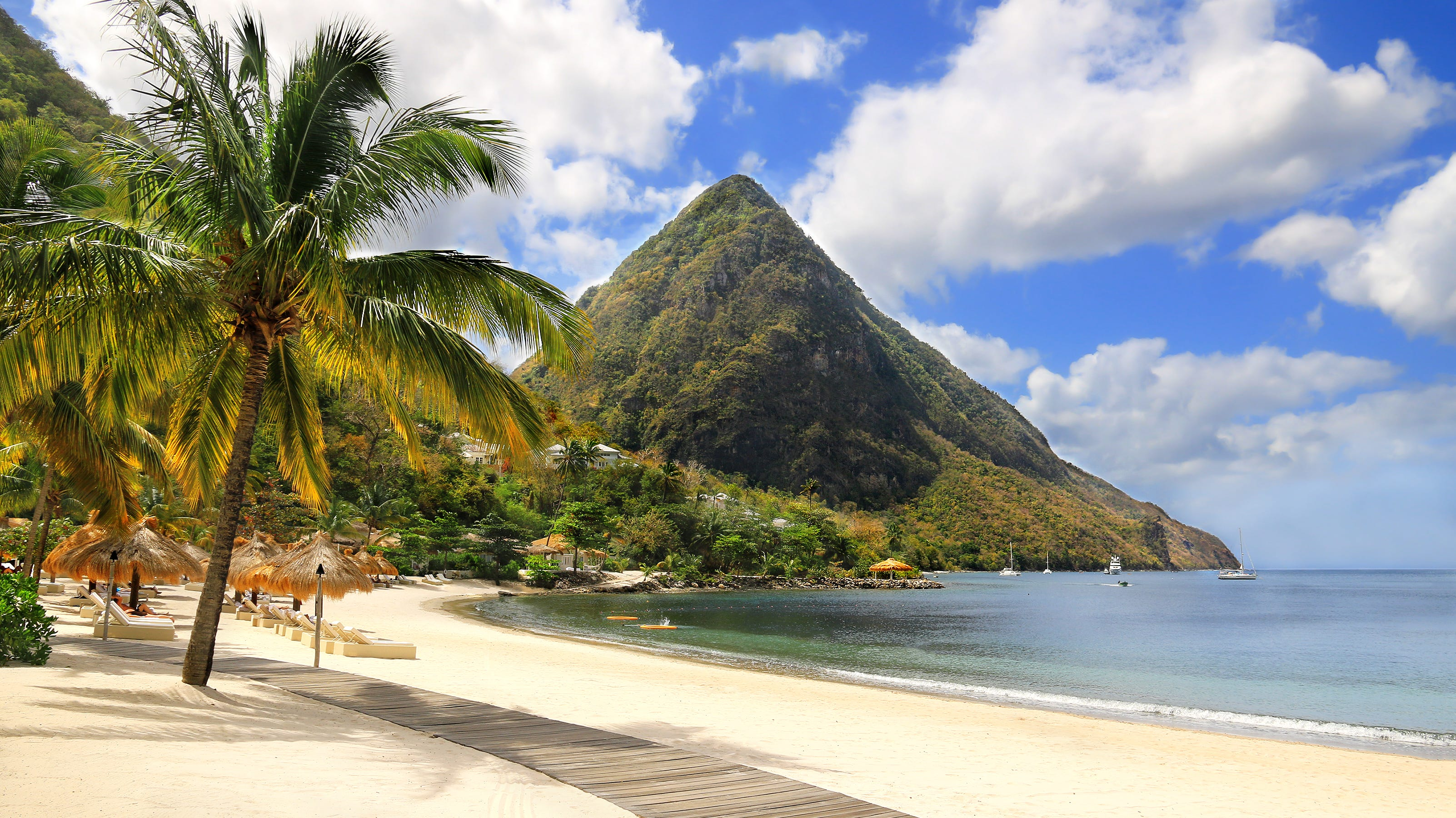 Set between St. Lucia's Twin Pitons, Sugar Beach offers Insta-worthy views as well as some of the island's best snorkeling.