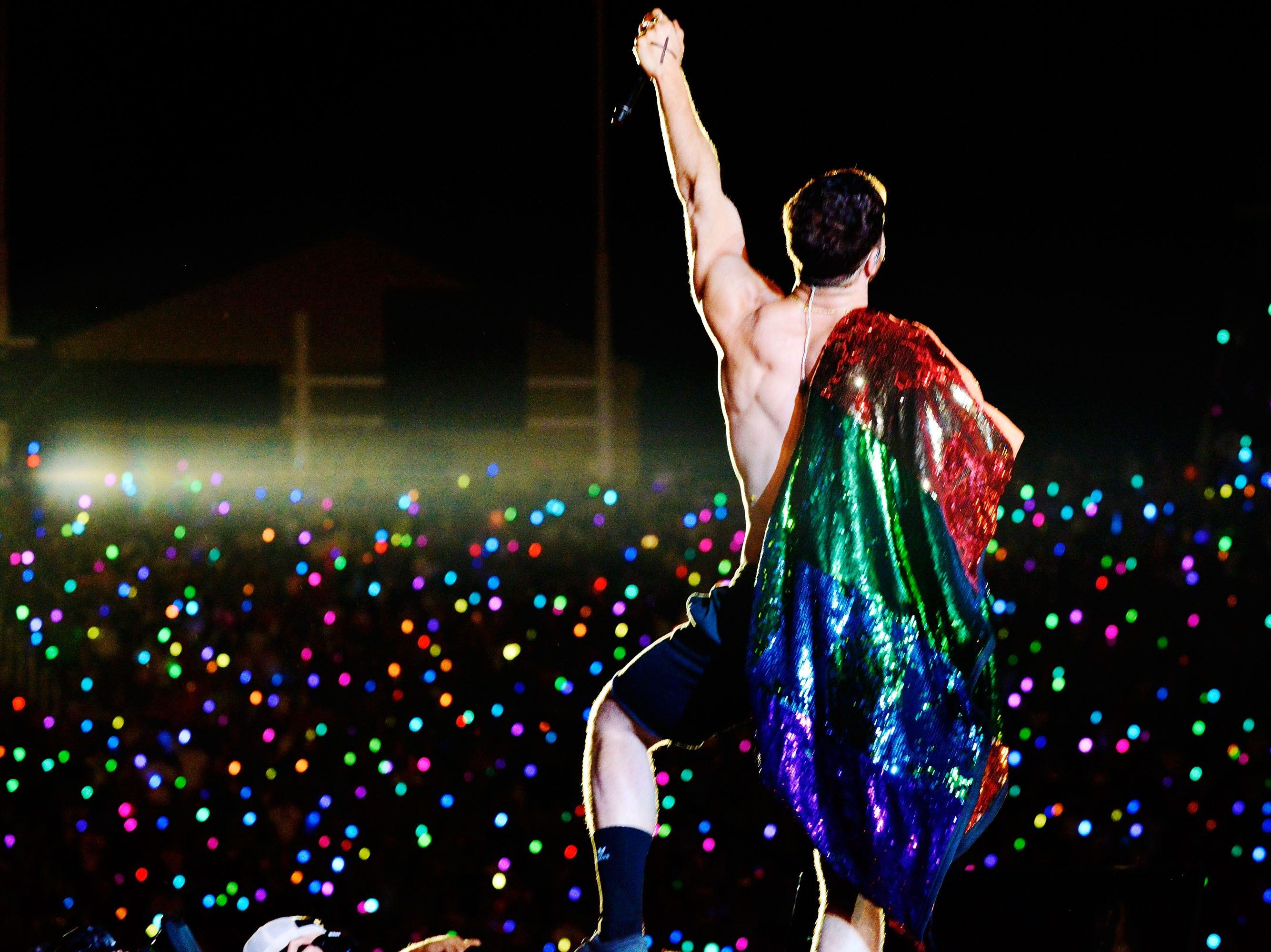 July 28: Dan Reynolds of Imagine Dragons performs at LOVELOUD Festival in Salt Lake City, Utah.