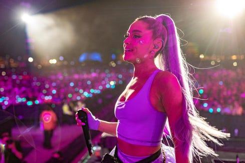 April 20:  Ariana Grande also performed at Coachella...