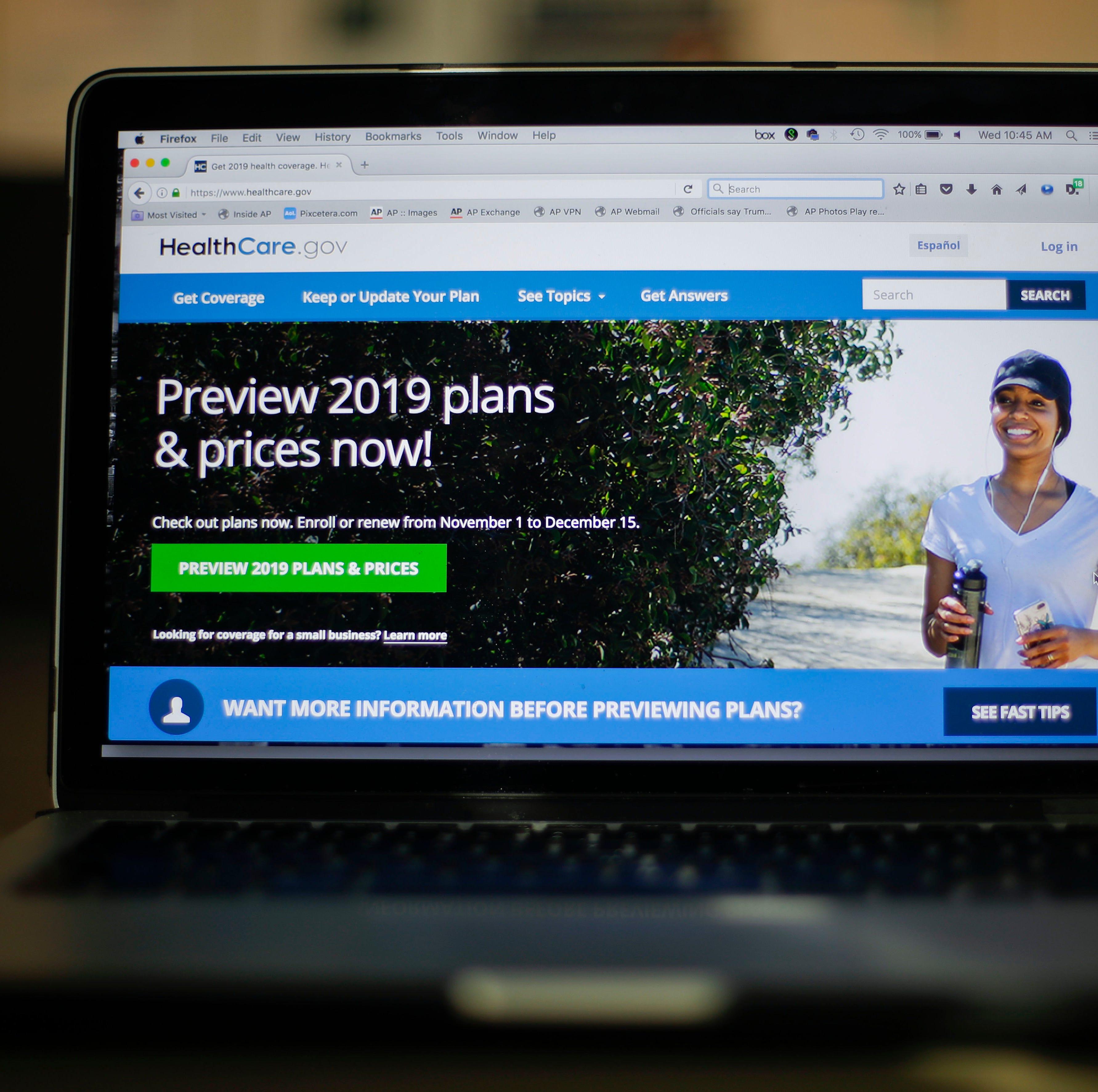 The HealthCare.gov website, Washington, D.C.,...