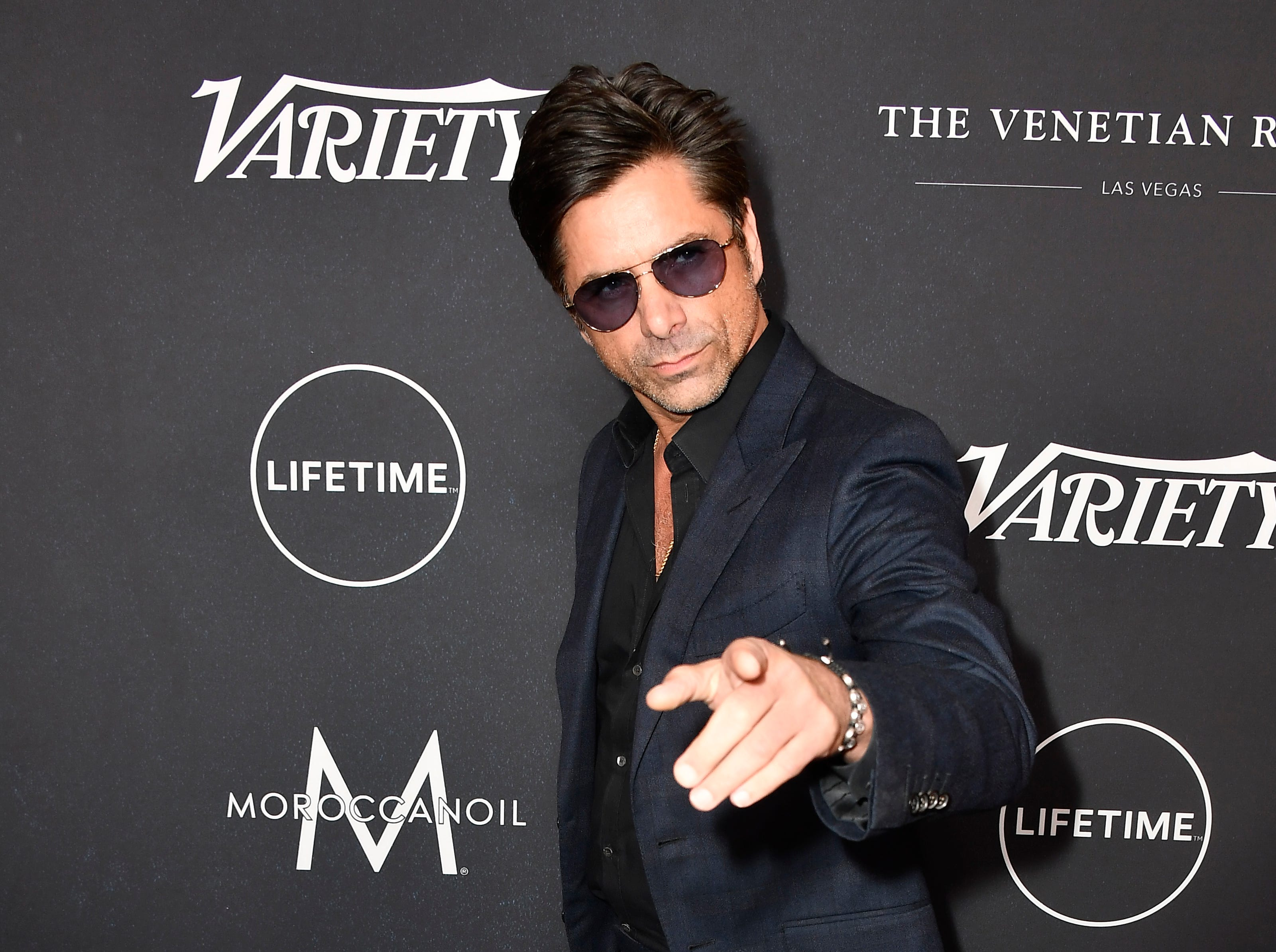 October 12:  John Stamos also attends Variety's Power of Women event.