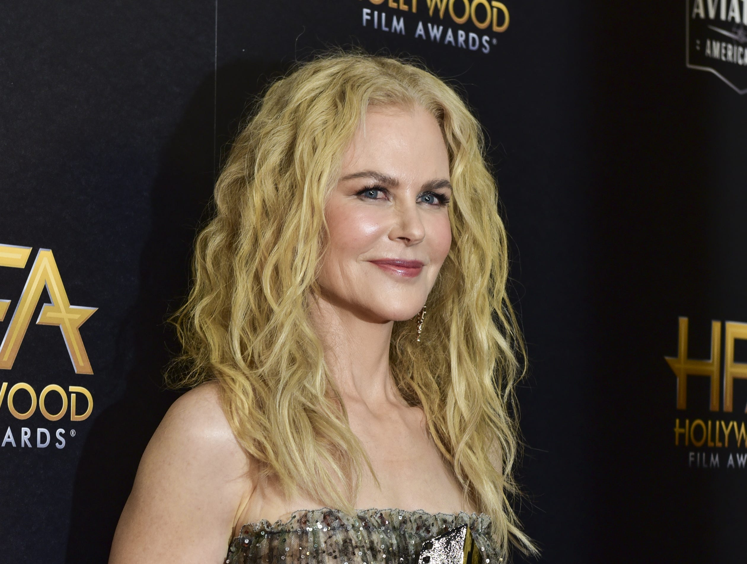 November 4: Nicole Kidman poses at the Hollywood Film Awards.