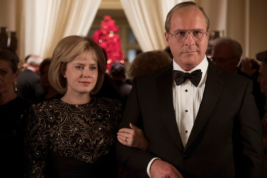 "Lynne Cheney (Amy Adams) and husband Dick (Christian Bale) are a politically ambitious couple in the comedy/drama ""Vice."""