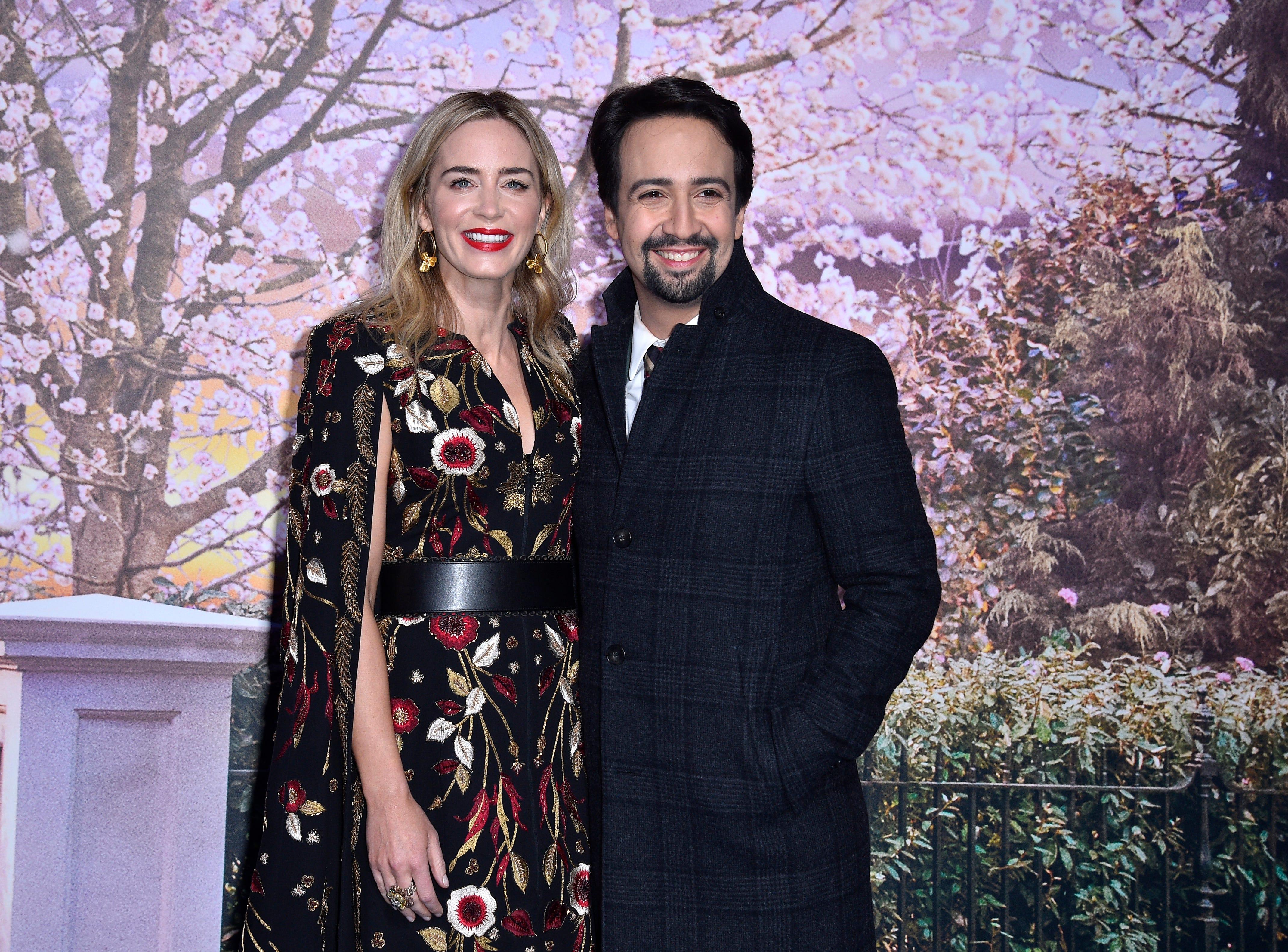 """December 10: Emily Blunt and Lin-Manuel Miranda attend a Paris screening of """"Mary Poppins Returns."""""""