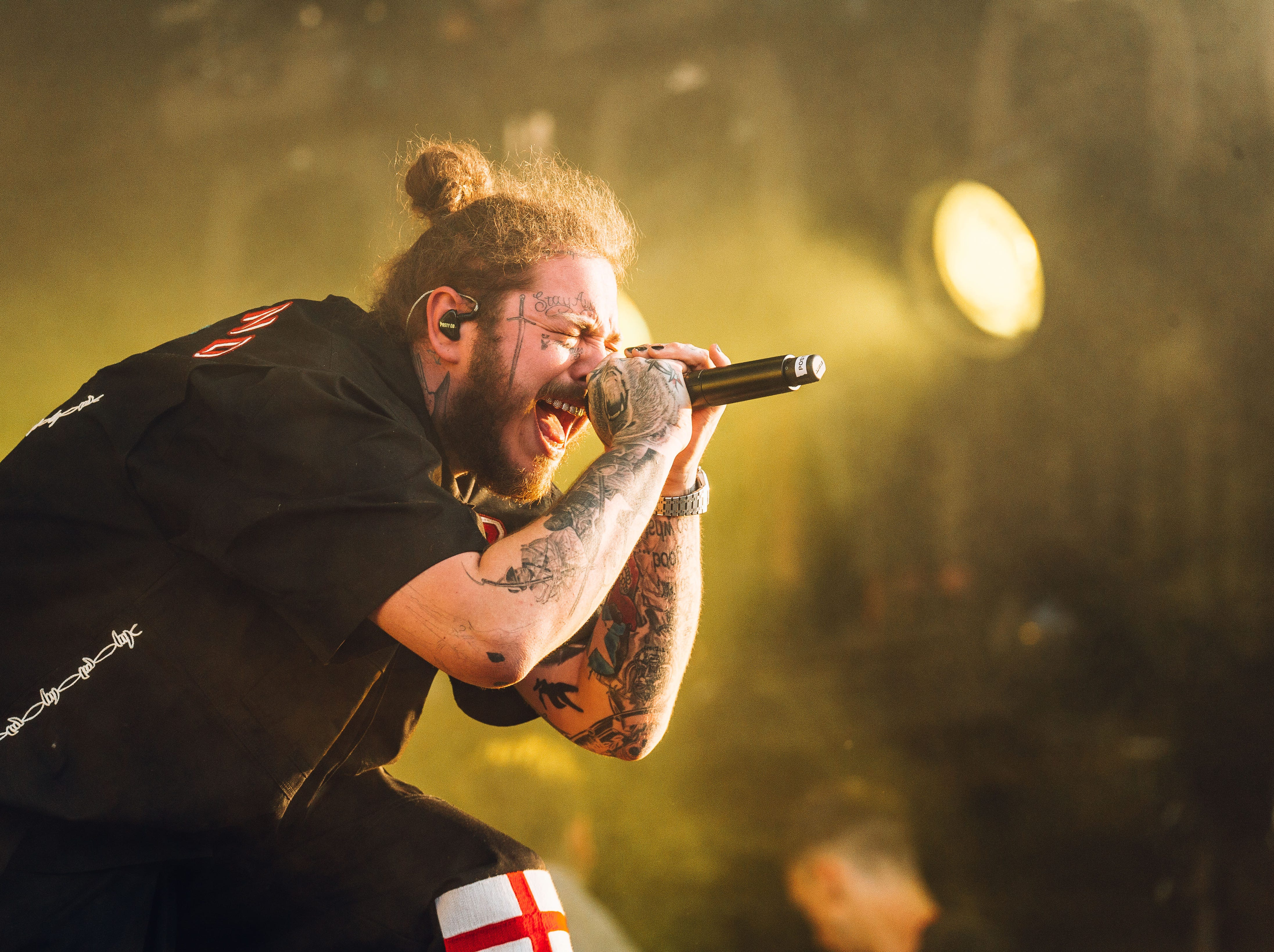 July 6: Post Malone performs at the Wireless Festival in London, England.