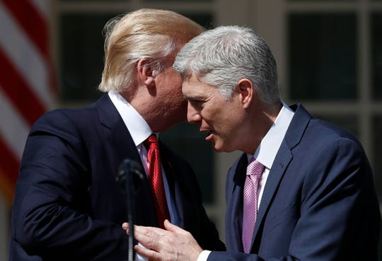 President Donald Trump's selection of federal appeals court judge Neil Gorsuch for the Supreme Court was his first of two high court picks.