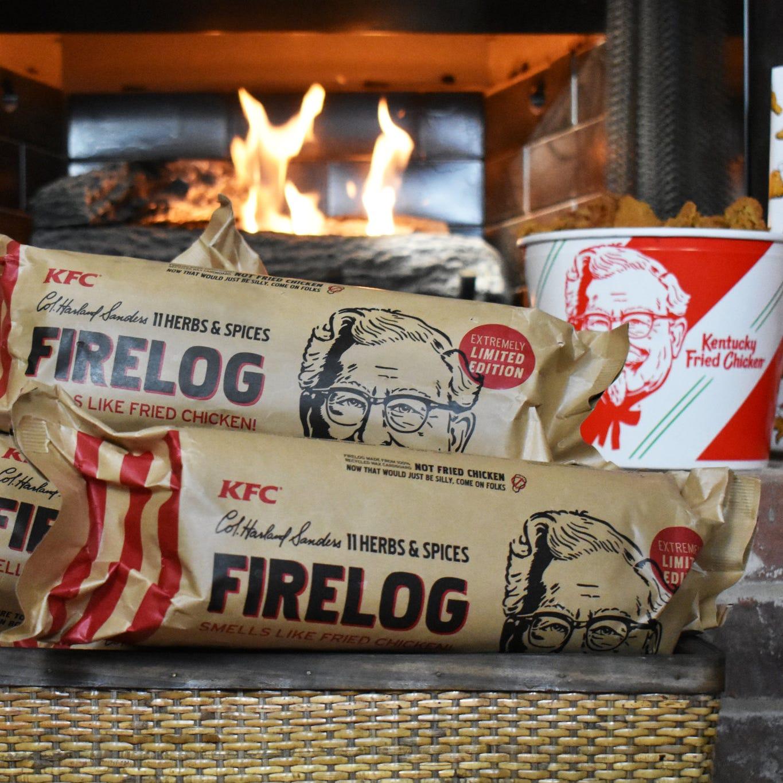 KFC has a new firelog that smells like fried...