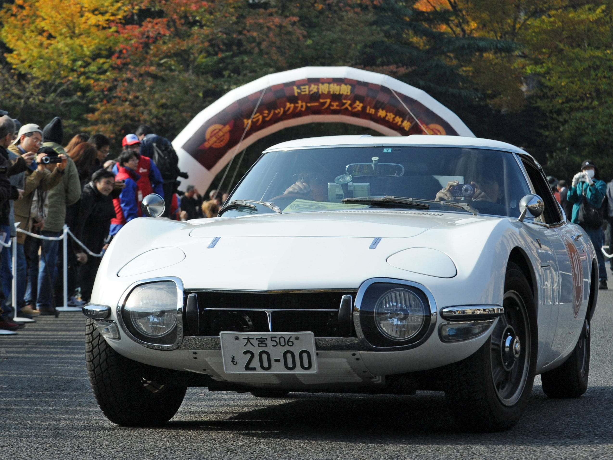 A 1967 Toyota 2000GT takes part in the start of the classic car parade during the 2010 Toyota Automobile Museum Classic Car Festival in central Tokyo on November 27, 2010. Ninety-one vintage cars participated in the parade.    AFP PHOTO / TOSHIFUMI KITAMURA (Photo credit should read TOSHIFUMI KITAMURA/AFP/Getty Images) [Via MerlinFTP Drop]