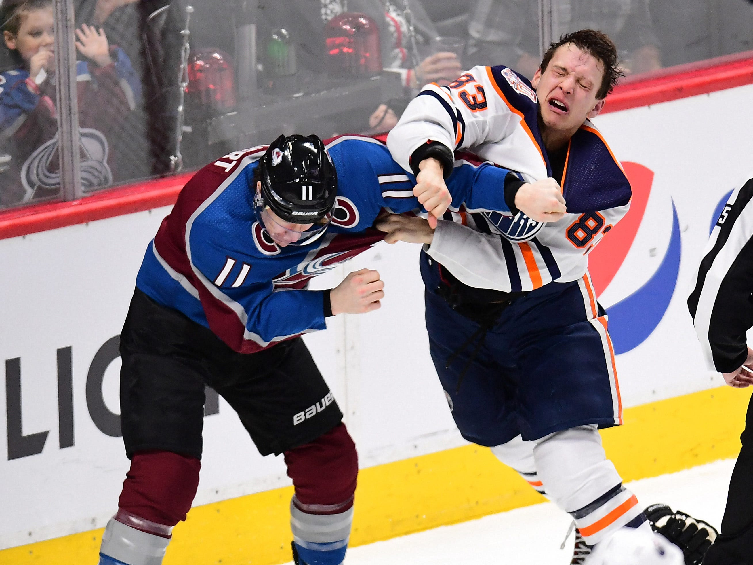 Dec. 11: Colorado Avalanche's Matt Calvert vs. Edmonton Oilers' Matt Benning.