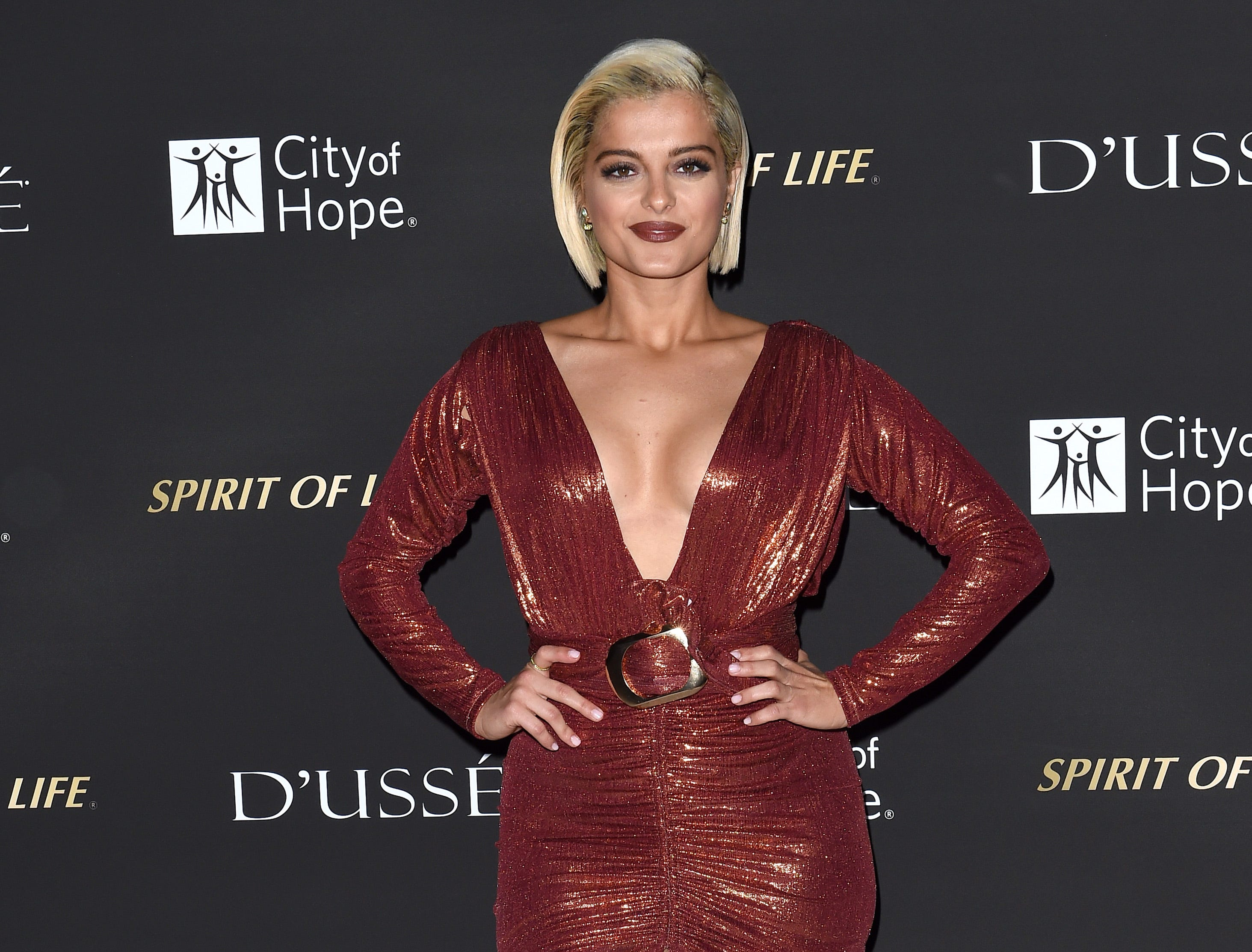October 11: Bebe Rexha attends City of Hope Gala in Los Angeles.