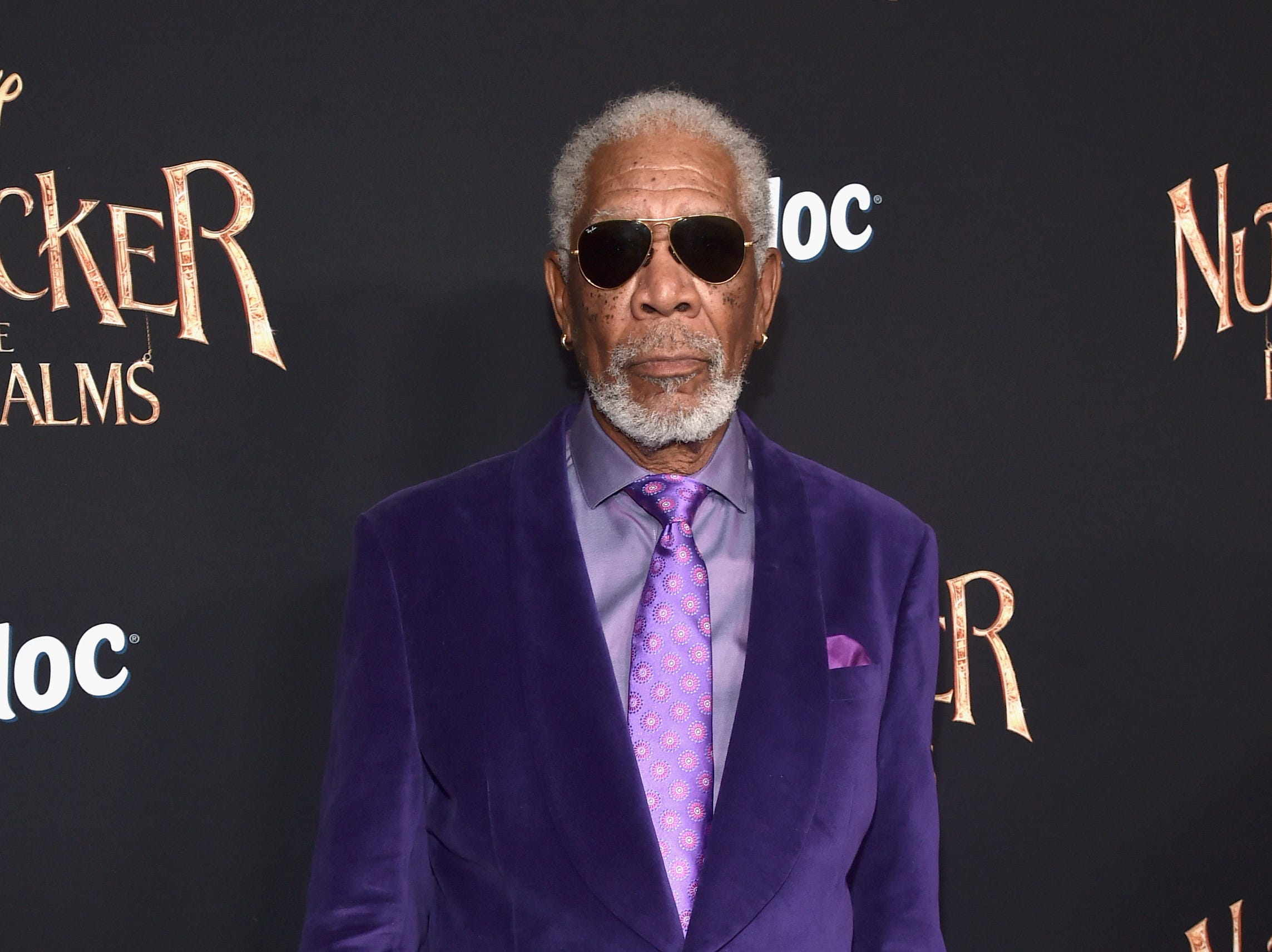 """October 29:  Morgan Freeman arrives at the world premiere of """"The Nutcracker and the Four Realms."""""""