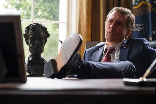"Sam Rockwell stars as President George W. Bush in Adam McKay's ""Vice."""