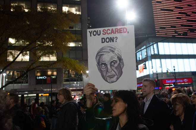 A protest in New York City on Nov. 8, 2018.