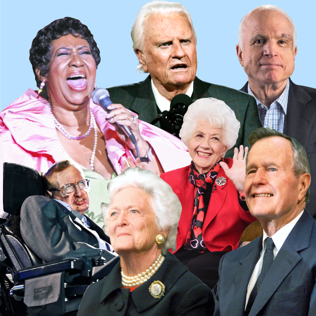Aretha Franklin, Stephen Hawking, George H.W. Bush and other luminaries: A look at legends we've lost in 2018