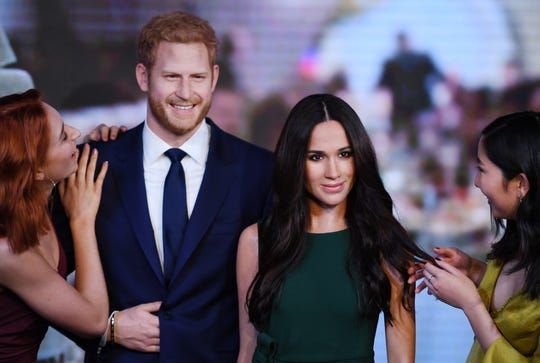 The original wax figures of the Duke and Duchess of Sussex were far less creepy than the Berlin versions.