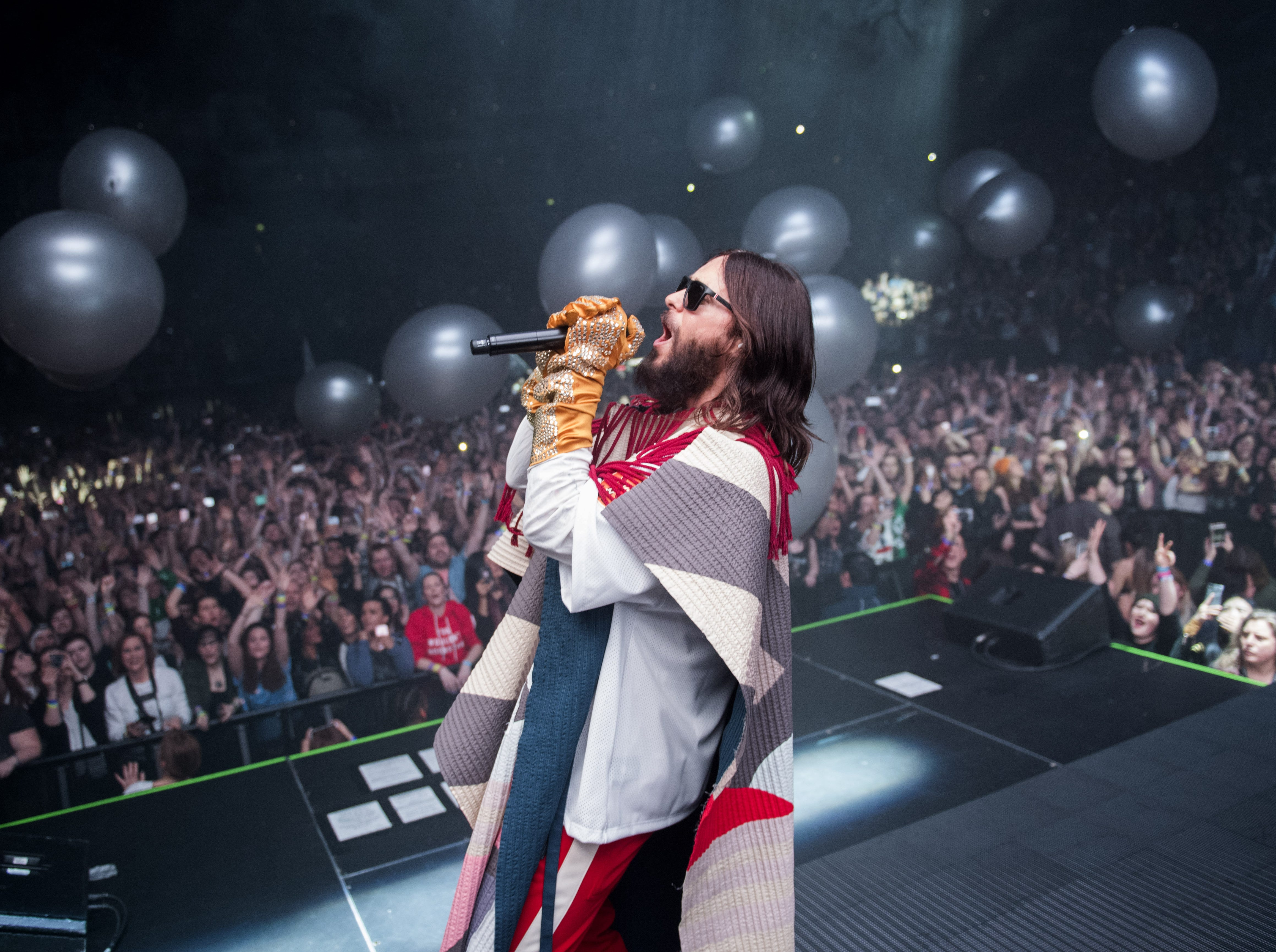 March 27:  Jared Leto performs with Thirty Seconds To Mars in London.