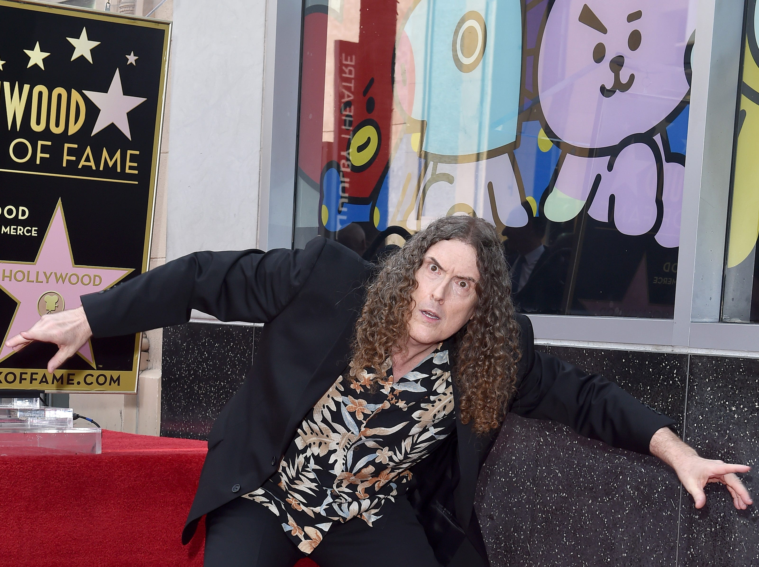 August 27:  'Weird Al' Yankovic is honored with star on the Hollywood Walk of Fame.