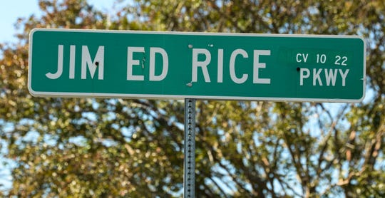 Not odd, but famous names such as Jim Ed Rice Parkway are occasionally seen in Anderson. Jim Ed Rice Parkway runs by the duck pond at Chris Taylor Park in Anderson.