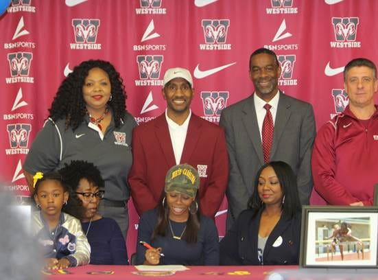 Westside High School's Taylor Robinson has committed to run track at North Carolina A&T State University.