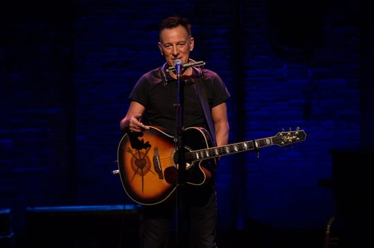 "Bruce Springsteen in a scene from ""Springsteen on Broadway."""