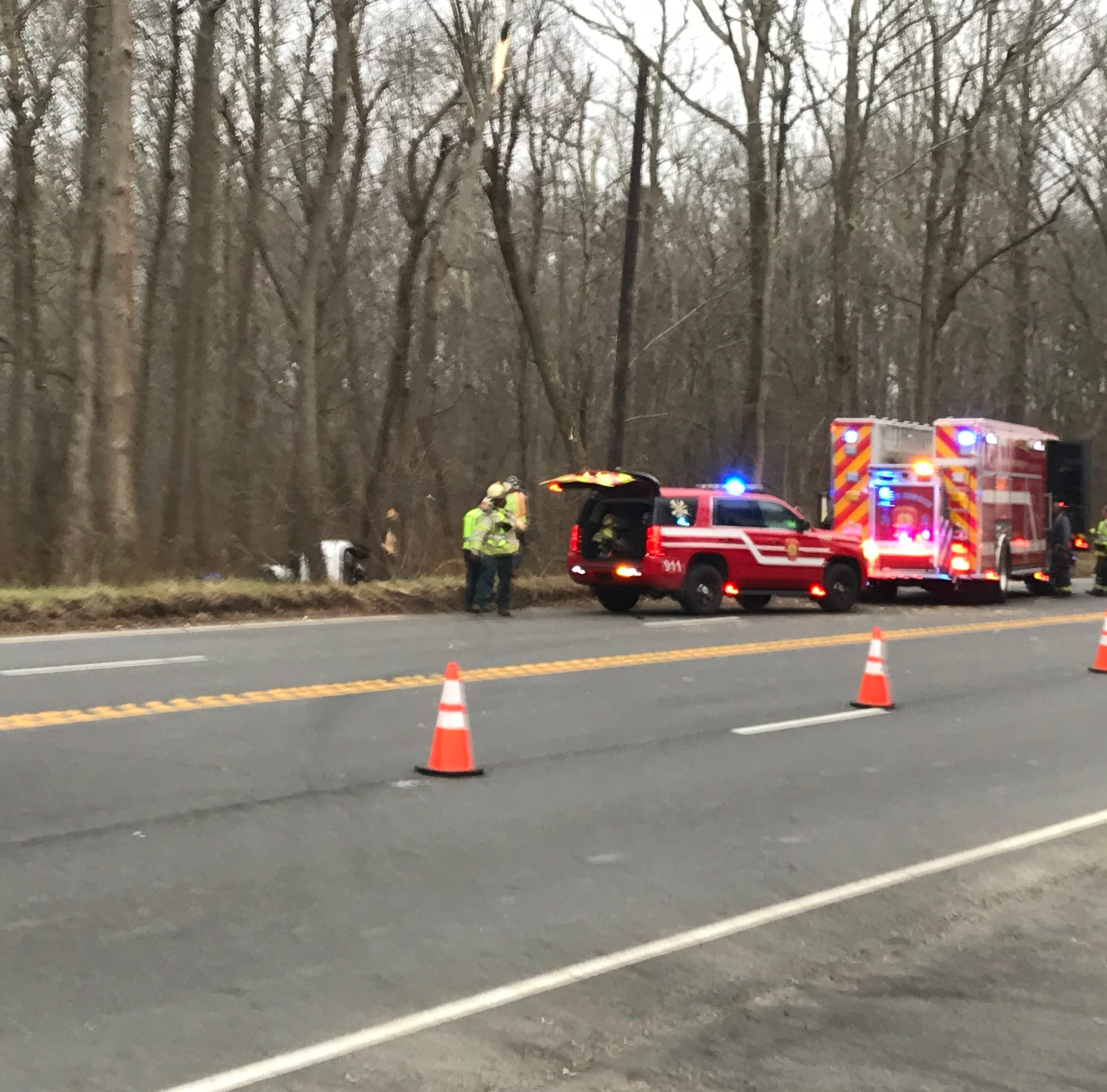 Tinton Falls crash on Route 33  left driver trapped