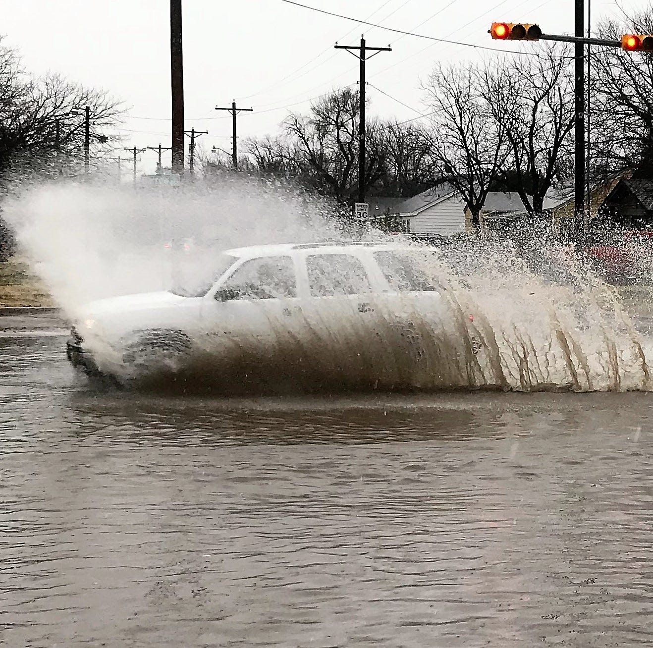 Winter mix of rain and snow hampers driving in Abilene, Big Country