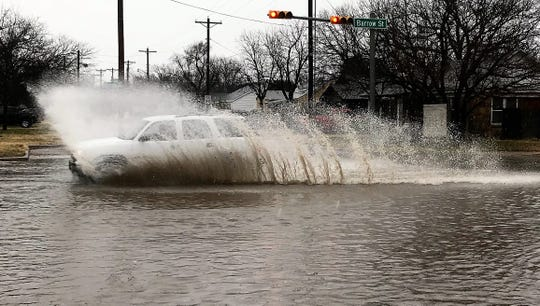 Abilene streets may be filled with rainwater beginning Tuesday, when chances of showers and thunderstorms escalate.