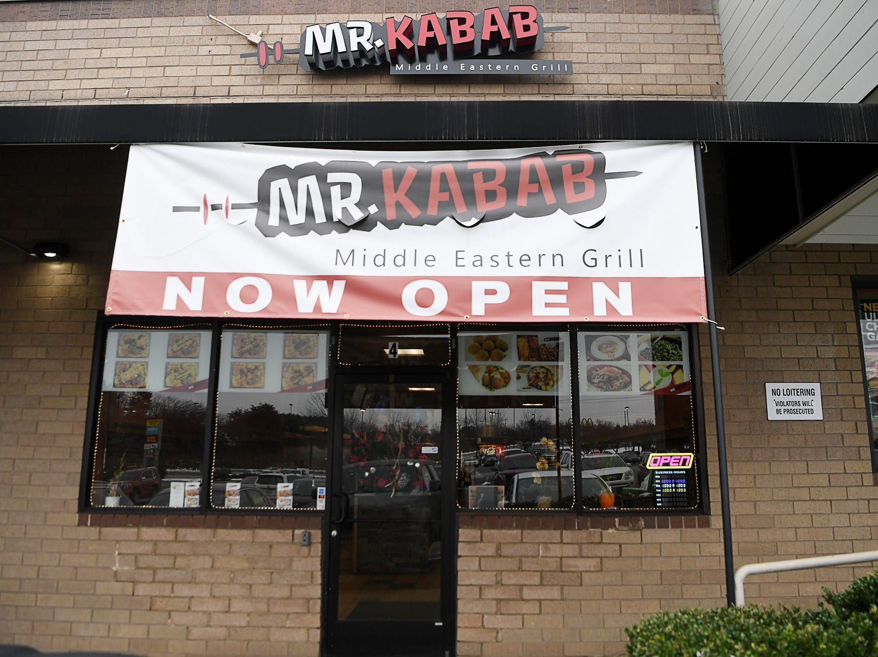Mr. Kabab, a new Middle Eastern restaurant in a strip mall in East Asheville Dec. 11, 2018.