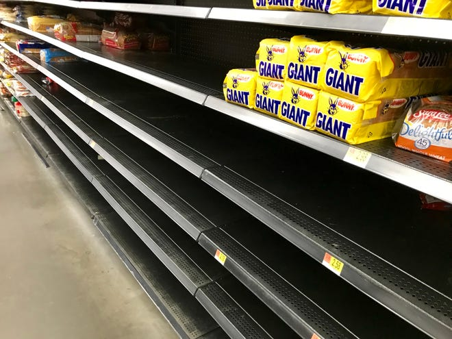 Bread shelves in the Asheville area started clearing out days before the recent snowstorm hit.