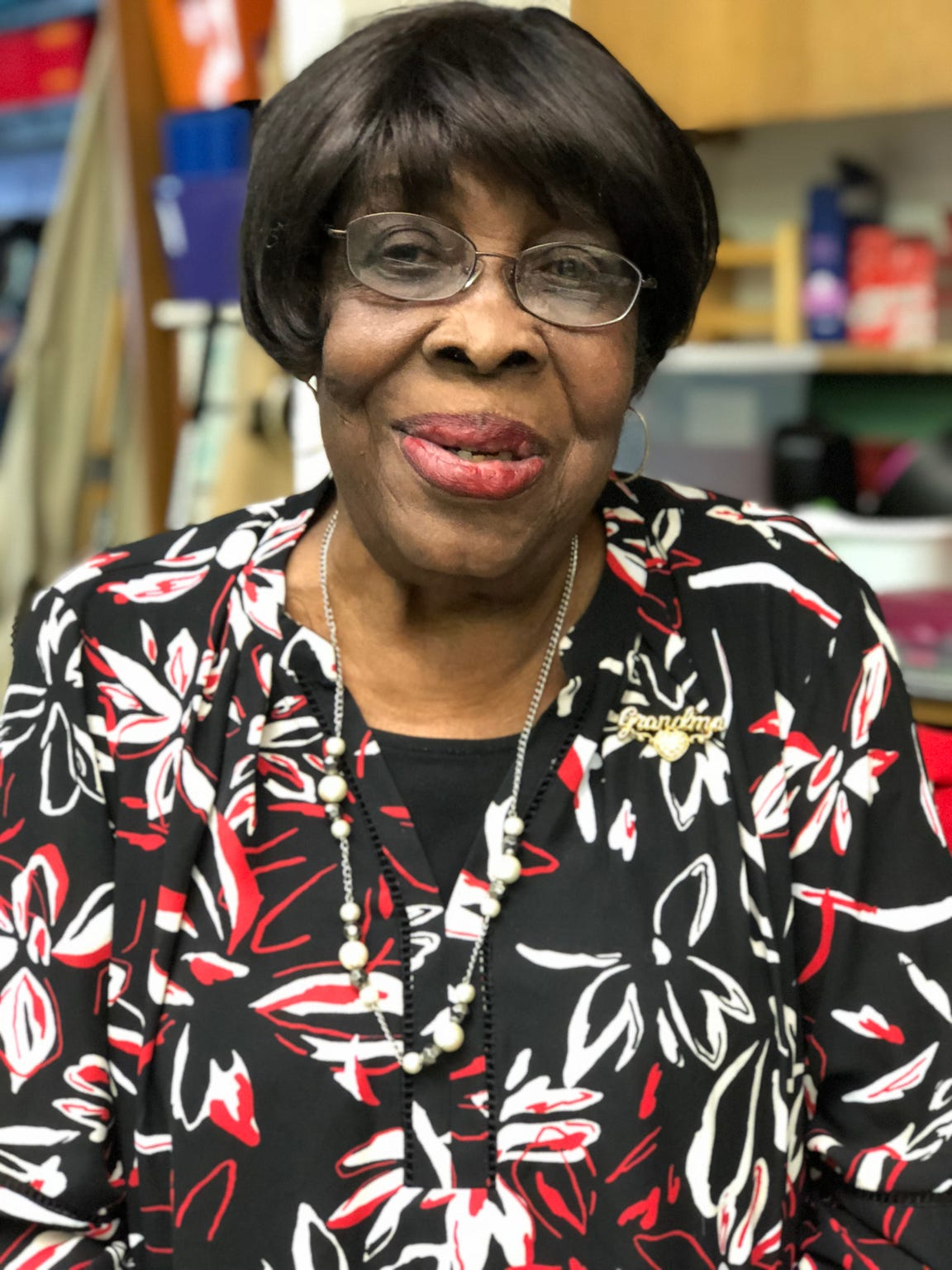 """Volunteer Veola Cannon has been known as """"grandma"""" at Dudley STEM School for 23 years."""