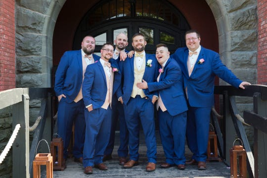 Nick Moran, second from right, was Man of Honor in Nick and Krista Ellsworth's July wedding.