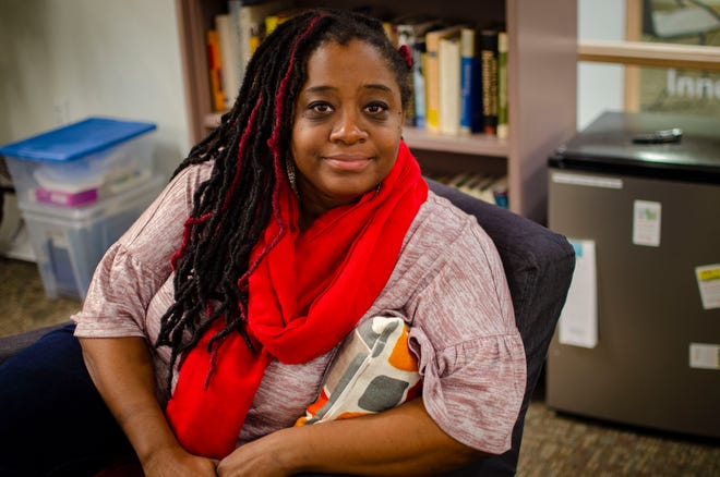 """Ruqaiyah """"Kiah"""" Morris, seen here at her office on Dec. 6, 2018, was the only female African-American legislator until she resigned, citing racial harassment."""